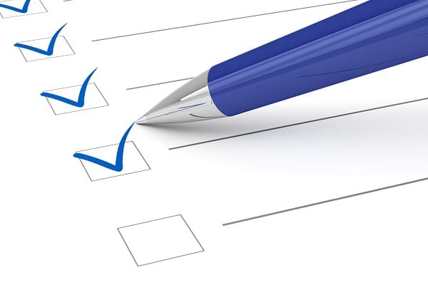 Cocher des cases de checklist