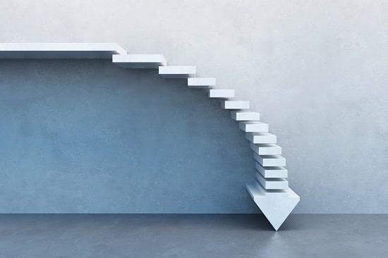 Escalier en forme de flèche
