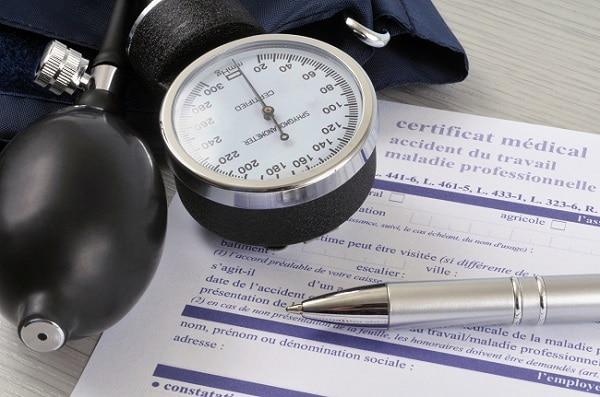 Certificat médical accident du travail