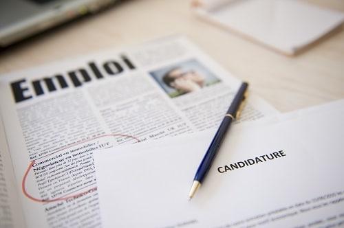 Candidature pour un emploi